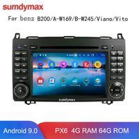 Joueur 4G 64G ROM Android 9,0 Car DVD pour // Sprinter / B200 / B-Classe / W245 / B170 / W169 Viano Viano avec GPS NAVI