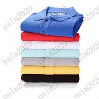 Alta Qualidade Crocodilo Pólo Camisa Homens Solid Cotton Shorts Polo Verão Casual Polo Homme camisetas Pólos Mens Camisas PoloShot SS01