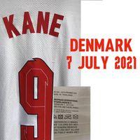 Colecionável 2021 jogo jogador desgastado problema kane esterling foden shaw personalizado qualquer nome número número futebol patch emblema