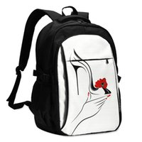 Backpack USB Charge Women Hand Holding High Heel Shoe With Decorative Flower Letters Print School Bag Girls
