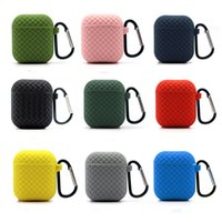 Woven Pattern Case for Apple AirPods Pro 1 2 3 Bluetooth Headset Protective Cover Multi-color Hooded Integrated Thick Soft Environmentally Friendly Silicone 2.5mm