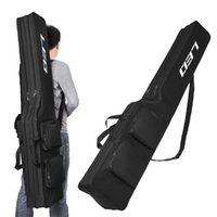 Fishing Accessories Two Layer 130cm Rod Reel Bag Pole Gear Tackle Tool Carry Case Carrier Storage Organizer Cover