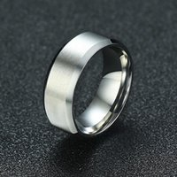 Wedding Rings Vnox Stainless Steel Mens Ring 8mm Classic Male Band Comfort Wear Jewelry Size 6 7 8 9 10 11 12 13