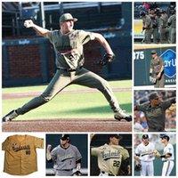 NCAA Vanderbilt Commodores Beyzbol CWS Beyaz Altın Siyah Jersey 7 Dansby Swanson 2 Harrison Ray 80 Rocker 13 Buehler 14 Fiyat