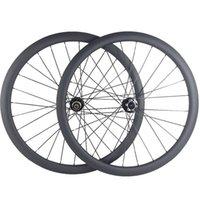 Rodas de bicicleta Freio de disco de carbono 700C D791SB D792SB Hubs 100x9mm 142x12mm 1600g 38mm CLINCHER 23MM Wheelset 3K Roda de bicicleta UD