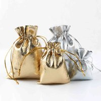 Мода Позолоченные марлевые Аттеновые Сумки Ювелирные Изделия Рождественские Подарочные Пакеты Сумка 6x9cm 7x9cm 9x12cm 13x18см