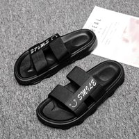 Slippers men's sandals summer beach shoes net red flip flop fashion outdoor wear leisure drag tide2S1I