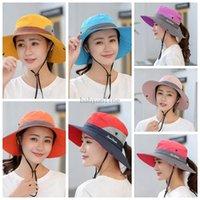 في الهواء الطلق مظلة قبعة الصياد قبعة سيدة لطي كاب الشمس الصيف قابل للتعديل قبعات ركوب الدراجات قابلة للتعديل