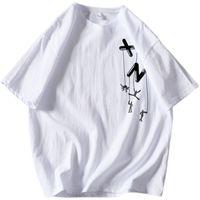 Camiseta de manga corta de moda de verano Tienda de alta calidad Tienda de mujeres Mujeres Imprimiendo Cuello redondo Camisetas Casual Negro Blanco Verde Tops M-5XL