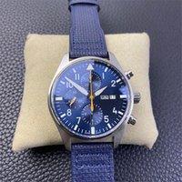 V2 versión de actualización zf 391021 azul dial cal.79320 7750 cronógrafo automático reloj para hombre 18k caja de oro rosa de cuero cronómetro deportivo relojes k8
