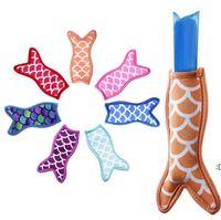 Antifreezing Reusable Portable Mermaid Ice Pop Sleeves Popsicle Ice Bags Neoprene Insulation Fabric Ice Sleeves Freezer Holders DWE6681