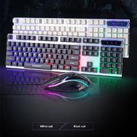 Mouse Keyboard Kit Waterproof Mechanical 104 Keys English Wired Gaming For PC Computer Desktop Laptop 5V Keyboards