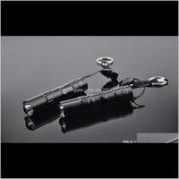Фонарические светильники Факелы Прибытие Хайкавенство Linternas Mini Black 800 Люмен Водонепроницаемый Светодиодный Факел Flash Bike Light Bnjue 8PXG7