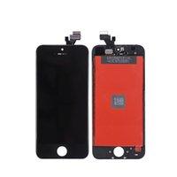 LCD Paneller iPhone 5 5 S 5G Sınıf A + + + Ekran Dokunmatik Sayısallaştırıcı Ekran Montaj Tamir TFT Hiçbir Ölü Pikseller 100% Paket olmadan Test Edildi