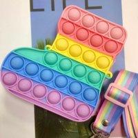 2021 Christmas Socks Bags Pop Fidget Toys Kids Pencil Cases Simple Dimple Push Sensory Figet Toy Bolso Autism Antistress Gift WHT0228