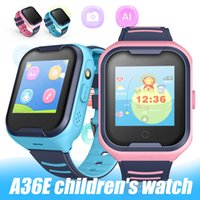A36E Smart Watch Waterproof GPS Tracker Device Baby Safety Lost-Proof Activity Monitor Kids Smartwatches with Retail Box