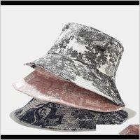 Beanies Unisex Mürekkep Boyama Vintage Kova Şapka Tie-Boya Baskılı Açık Balıkçı Cap Bonnets CN (Origin) Cwuep Arj7x
