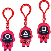 DHL SHIP 9 Styles Squid Game Keychain Toy PVC Soldier Spopular Series Are Still Missing Your Keychains Mini Doll Key Ring Car Backpack X1013C
