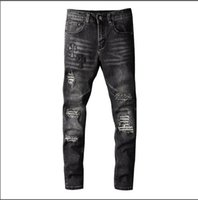 2021 men's jeans high quality designer luxury denim fashion locomotive ripped holes popular hip-hop