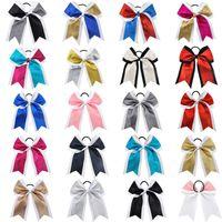 Girl Ponytail Holder Glitter Engle Reake Rubber Band Backwork Bows Hero Ribbon Eysticle Grosgrain Черлидинг галстук