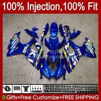 Injektionsform för SUZUKI GSXR600 K8 GSX-R750 GSXR-600 GSXR-750 GSXR750 Bodywork 9HC.61 Glansig Blå GSX-R600 2008 2009 2010 GSXR 600 750 CC 600CC 750cc 08 09 10 FAIRING