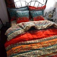 Fanaijia 3d البوهيمي مجموعات الفراش بوهو مطبوعة ماندالا حاف الغطاء مجموعة مع المخدة الملكة حجم السرير النسيج المنزل 210727