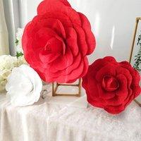 Grande velluto artificiale Peony Faux Flower Studio Shooting Temi romantici Show show show sfondo Sfondo Fiori di seta decorativi Ghirlande di fiori