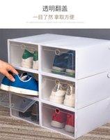 Engrossar caixas de sapato de plástico Clear caixa de armazenamento de sapata à prova de poeira Caixas de doces transparentes Sapatos empilháveis Caixas de organizador Atacado 508 S2
