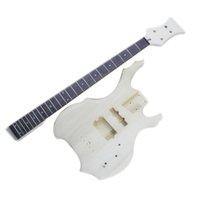 Kits de guitarra de bajos de DIY 4 cuerdas con todo el hardware, freboard de palisandro
