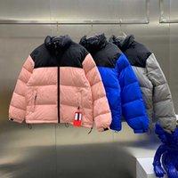 Mode Männer Daunenmantel 21FW Winter Damen Parkas Warme Brief Stickerei Muster Winddicht Stoff Hohe Qualität Jacke Größe M-2XL 9 Farbe