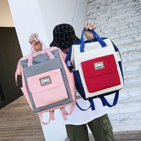 Backpack Fashion Canvas Women Casual Travel Big Capacity Laptop School Bag Tote For Teen Girls Simple Shoulder