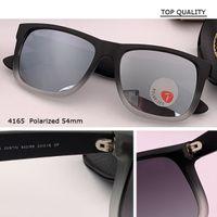 Real Mirror Polaroized flash Sunglass Men and women polarized 4165 sunglasses justin 54mm Sun Glasses eyewear Oculos De Sol gafas