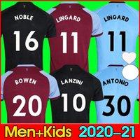 20 21 Lingard West Soserys 2020 2021 Noble Ham Bowen United Lanzini Noble Football Hemd Männer Kids Kit 125 Jahre 125. Jahrestag