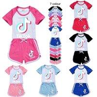 الفتيات السراويل الرياضة البدلة رياضية ملابس الصيف مجموعة أطفال طفل رضيع الملابس تراكسويت لطيف تيك توك تيكتوك الاطفال الملابس G40Y46T
