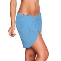 Frauen Sexy Solid Color Beach Rock Swimwear Cover Up Damen Einteilige Schwimmstämme Mode Badeanzug