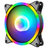 COOLMOON 12cm Cooling Fan RGB Desktop Chassis Case Mute Rainbow Heatsink Radiator PC Computer Water Accessories