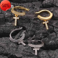 Sapphire Ring Ins Zircon Cross Hip Hop Ear Clip