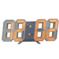 1 adet / grup Toptan 3D LED Duvar Saati Dijital Alarm Tarih Sıcaklık Masası Masası Diğer Saatler Aksesuarları