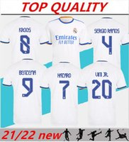 2021 2022 레알 마드리드 축구 유니폼 벤제마 Sergio Ramos 홈 멀리 21/22 Camiseta de Futbol Modric Hazard Football Shirt