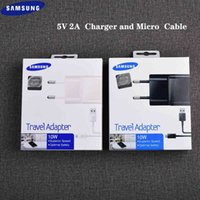 شاحن الهاتف الأصلي سامسونج غالاكسي S6 S7 حافة شاحن الاتحاد الأوروبي الجدار محول 5 فولت 2a 100 سنتيمتر مايكرو USB كابل ل A10 S3 S4 J1 J7 J5 J4 J3 A7 A7 A9