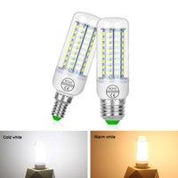 전구 E27 LED 램프 220V SMD 5730 E14 전구 24 36 48 56 69 72 LED 옥수수 샹들리에 촛불 가정 장식
