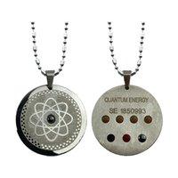 Кулон энергии квантовой агистрации с 7 камнями здоровья и отрицательные ионы для защиты EMF 5G женщин мужчин подвески ожерелье