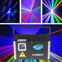 Ilda DMX512 2500mW RGB Lighting laser Animazione Fireworks Fascio Effetti per vacanze all'aperto DJ Natale