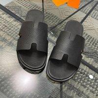 40% Rabatt 2021 Luxus Designer Mode Herren Hausschuhe Sommer Sandalen Marke Strand Ledergummi Flache Bottom Beiläufige Schnürsenkel mit Originalkiste