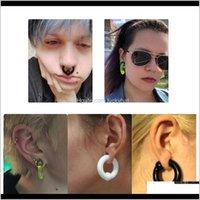 Ögonbryn 2pcslot akryl bcr stor stor storlek fånge pärla öron tunnel plug expander mätare näsa septum ring örhängen piercing smycken SKF 75RDV
