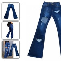 Women's Jeans Summer Autumn Solid Color All Match Denim Pants Women Flare High Waist For Daily Wear
