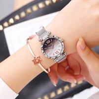 Часы Женщины 2021 алмазные римские цифры сетки женские классические наручные часы из нержавеющей стали браслет Femme подарочные часы SAAT наручные часы