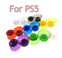 Colorful Clear Transparent Joystick Stick Cap For PlayStation PS5 Controller For PS5 3D Thumbstick Mushroom Cap Analogue Analog