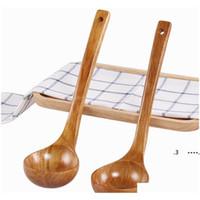 긴 손잡이 큰 나무로되는 숟가락 디저트 쌀 숟가락 나무 액세서리 도구 홈 가제트 FWB6687
