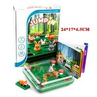 Bunny Bouncing игра Дети головоломки доска шашки игрушка забавный кролик лиса движущийся стратегия настольный подарок для развития мозга